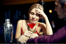 lady with alcoholic drink